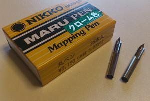 NIKKOの丸ペン、クローム色