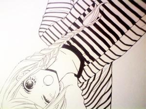 白黒で描いてしまった