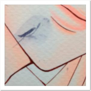 カラー原稿、終わりかけにインクこぼして腕でがっってやっちゃったの図