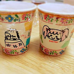 まりものイラスト付き紅茶プリン